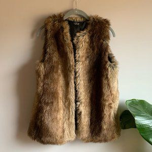 Cara New York Faux Fur Brown Vest One Size